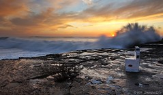 Seat back and Enjoy... (SrgioLusSilva) Tags: portugal sunrise mar waves ericeira canon1740l estabas manfrotto055xprob ilustrarportugal marsvivas canon5dmkii sergioluissilva