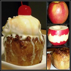 Sandra's Recipes - Alaska Decadent German-Style Baked Apples (sandrasalaskarecipesphotographyretail) Tags: ice alaska recipe dessert sandra sauce cream style juneau caramel honey german apples vanilla baked decadent cripps maraschinocherries