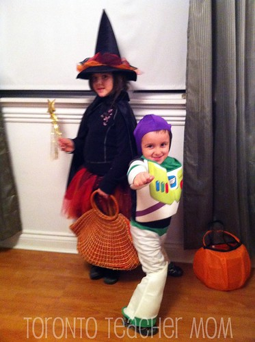 Halloween Witch and Buzz Light Year