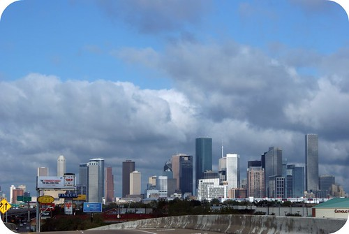 quilt market recap. {houston skyline.}