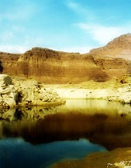 Lake Powell Reflections 1977 (pam's pics-) Tags: summer usa lake west reflection film water america reflecting utah us canyon 1977 lakepowell filmshot pammorris pamspics nocluewhatcameraiused