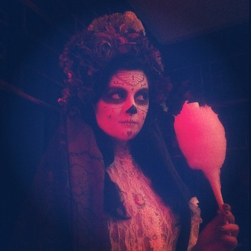 La Catrina y cotton candy