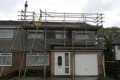 Solar panel access scaffold for FHM (CASS_UK) Tags: bristol pier construction scaffolding cardiff scaffold cass haki