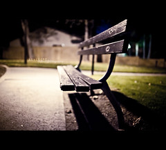 solitude.. (intu!tive cre@tion) Tags: park black dark bench lowlight dof fullframe friday vignette oof wideopen 10x myoonphotography