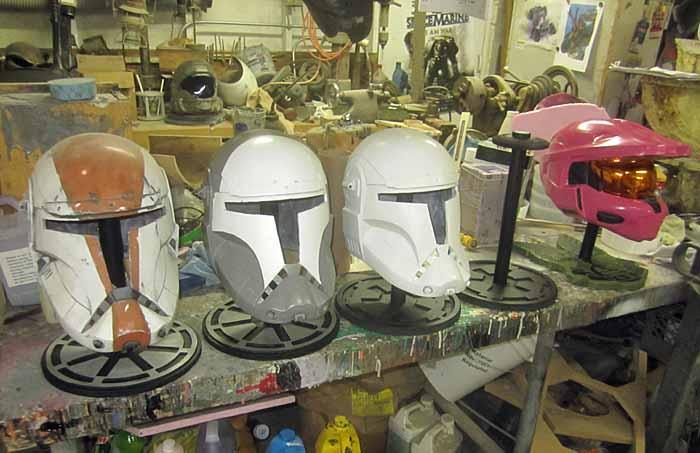 Helmet Stand Lineup
