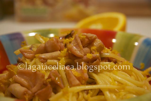 linguine ai calamari con profumo di agrumi
