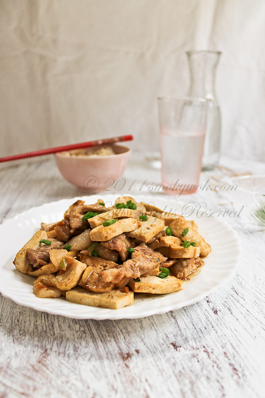 Stir-fried Pork and Tofu in Savoury Bean Sauce