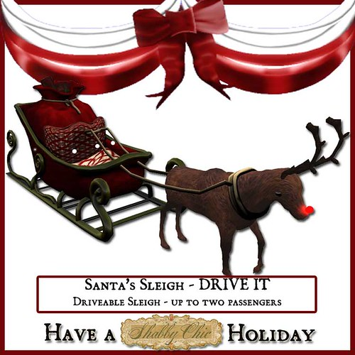 Shabby Chic Santa's Sleigh - Driveable by Shabby Chics