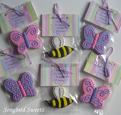 Butterflies & Bumblebees (Songbird Sweets) Tags: butterflies bumblebees sugarcookies birthdayfavors songbirdsweets