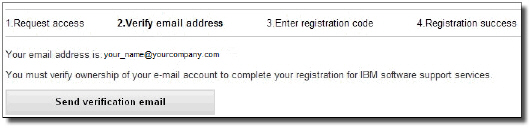 "Verify email address and click the ""Send verification email"" button"