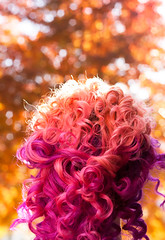 Day 343 of 365 - Year 2 (wisely-chosen) Tags: november autumn trees selfportrait me leaves bokeh canon50mmf18 pinkhair orangehair purplehair cameraraw 2011 365days naturallycurlyhair manicpanicpurplehaze manicpanicelectricbanana curlformers adobephotoshopcs5extended manicpanicrocknrollred redkensmoothdownbuttertreatment onenonlyarganoiltreatment laceitbykamelianarganoildeepconditioner