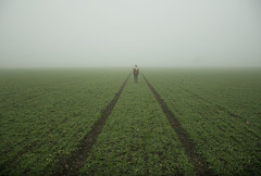 Depth Over Distance (ThomasBlumenthal) Tags: mist green girl field fog outdoors scary dof symmetry twtmeiconoftheday nikond90 thomasblumenthal hellesterman