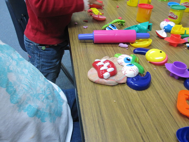 Play dough faces