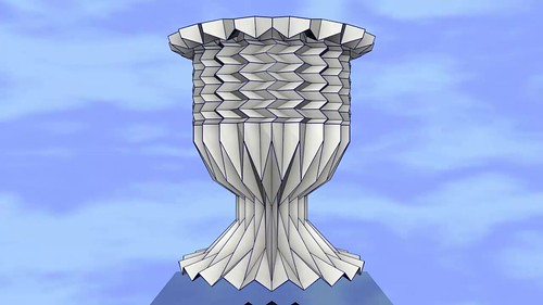 ORIGAMI CUP. HORIZONTAL AND VERTICAL FOLD