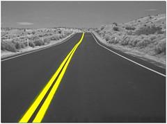 DESERT WAY (ROUTE 66) CALIFORNIA (Sigurd66) Tags: california ca usa yellow cutout route66 unitedstates desert desierto westcoast estadosunidos willrogers eeuu motherroad us66 historicroute66 westcoastusa ruta66 costaoeste willrogershighway usroute costaoesteusa mainstreetofamerica
