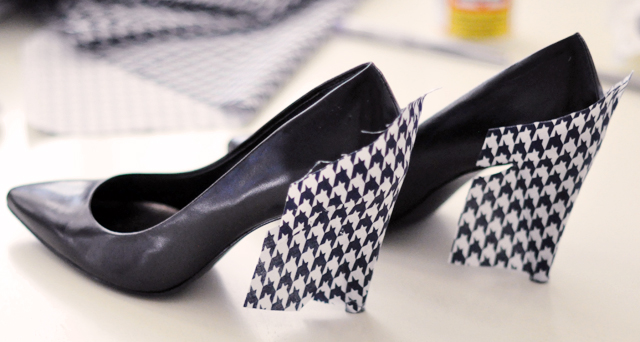 Houndstooth Shoes DIY - 7