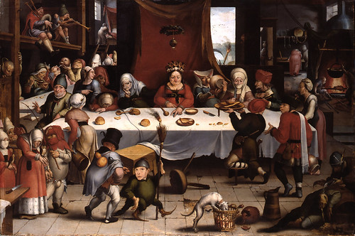 Jan Mandijn - Burlesque Feast [c.1550] by Gandalf's Gallery