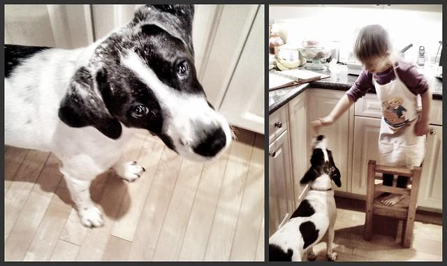 Picnik collage - Olivia and AJ baking