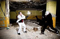 Spy vs Spy Round 2 (Spectral Convergence) Tags: urban abandoned gun detroit knife battle machete spyvsspy gassy eastcatholichighschool thewhitesuit