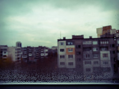 (N.D.K.K.) Tags: old city autumn windows sky urban storm luz window fog wall clouds photoshop vintage geotagged ventana photography photo calle lluvia lomo focus europa europe sofia action bokeh eu ciudad olympus retro bulgaria fotos otoo este eastern zuiko niebla bg 43 oly evolt e500    zd  olympuse500 1445mm