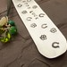 good luck stamped metal bookmark