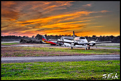 HDR - Free Fall Sunset (Stephen Eckert) Tags: sunset plane skydiving airplane airport hdr highdynamicrange skydivers parachute freefall freefalladventures stepheneckert