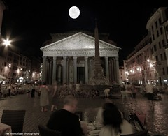 moonlight dinner at the pantheon (Rex Montalban) Tags: italy rome europe pantheon moonlight hdr hss rexmontalbanphotography sliderssunday