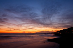 Bournemouth Sunset #2 (Humphrey Hippo) Tags: uk longexposure sunset sea england sky seascape beach water clouds tokina dorset gb bournemouth uwa tokinaatxprodxaf1116mm