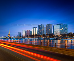 "Paris ""Skyline"" (Beboy_photographies) Tags: blue light paris building seine skyline night photo exposure tour mark horizon trails eiffel voiture rivire bleu trail ii hour toureiffel 5d lighttrails bluehour pause paysage soir crpuscule lente nuit quai hdr feu immeuble heure bleue fleuve feux grenelle longue photographies illumine lightrails beboy illumin bluhour 5dmarkiicanonlongexposurelong"