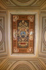 Rectangular ceiling (ejhrap) Tags: italy vatican rome roma painting italia musei ceiling museums decorated vaticani