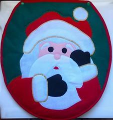 Parte da frente do tampo do vaso (Monne Arts) Tags: natal tampa de noel kit feltro tapete jogo vaso banheiro lavabo papai tampo