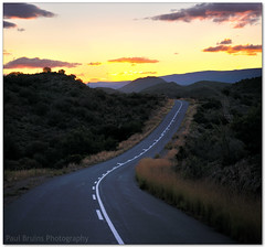 Road to Ladismith (Panorama Paul) Tags: sunset littlekaroo ladismith nohdr curvedroad sigmalenses nikfilters vertorama nikond300 wwwpaulbruinscoza paulbruinsphotography