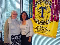 CityCriers Toastmasters Julie & Nidhi by Julie70