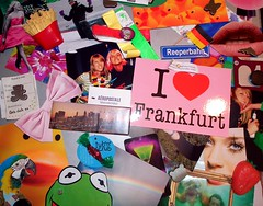 collage with things i love♥ (mareikeee) Tags: party collage frankfurt like pommes lips frog fotos colourful ente frosch bunt erdbeere schleife lippe zusammenstellung