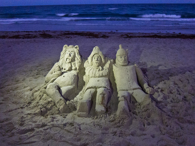 Wizard of Oz Sand Sculpture on Delray Beach, Florida