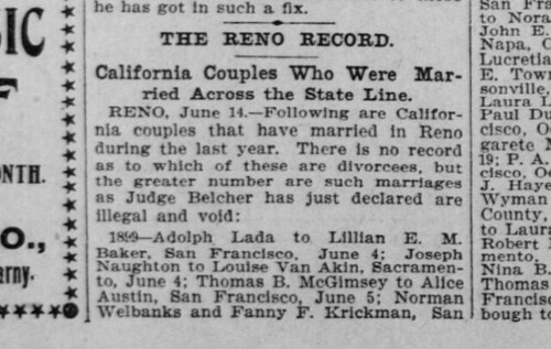 15 June 1900 San Francisco Call - Hirschler Marriage 1