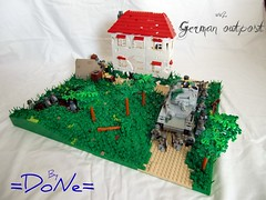 ww2 German Outpost (=DoNe=) Tags: trees lego wwii scene german dio ww2 minifigs custom done iv scenes epic tanks panzer customs outpost minifigures brickarms