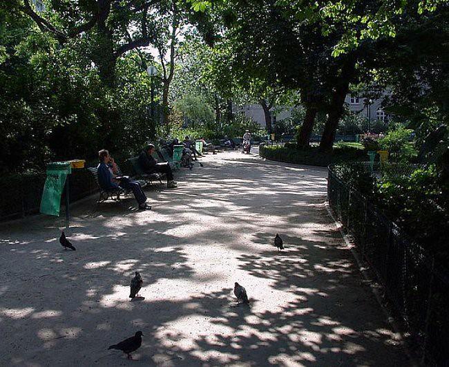 ombre dans les jardins du square du Temple le 11 juin 2003 météopassion