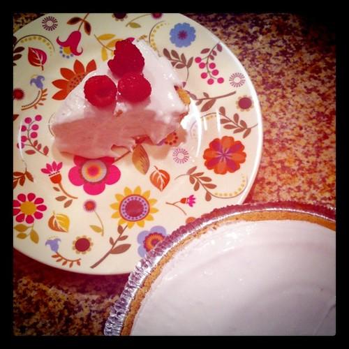 Home-made pink lemonade pie :)