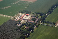 Cascina Scarpa (_ Night Flier _) Tags: above travel sky italy panorama green nature airplane landscape flying high view earth top farm aviation country aerial fromabove agriculture lombardia cessna skyview lombardy pavia birdeye aeronautic voghera cascinascarpa