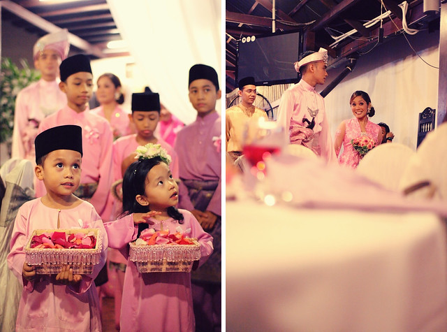 kids groom bride