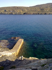 swimming to the blue, flying to the dreams, feel the air, smell the salt (dimitra_milaiou) Tags: life above blue sea summer sky sun beach nature water rock stone swimming island greek one 1 europe paradise day view steps aegean hellas greece hora planet summertime emotions chora andros cyclades dimitra hellenic  kyklades fantasticnature   horaandros  aigaio    paraporti  milaiou