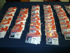 Preparations for the 50th Reunion: Name Tags (Aldene.Gordon) Tags: reunion high class 50th campbell 1961