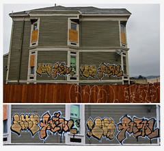 Keep & Anemal (Say Cheese & Die) Tags: sf house abandoned graffiti oakland bay area keep kelso throws throwies aod undk anemal