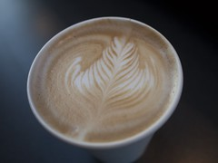 Latte from Cafe Hye Deli