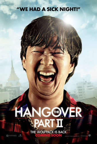 closeup of ken jeong as Mr. Chow wearing a plaid shirt and smiling on the poster for The Hangover Part 2.