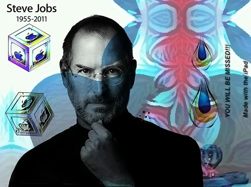 "Steve Jobs, ""YOU WILL BE MISSED!!!""  Made with the iPad  #1"