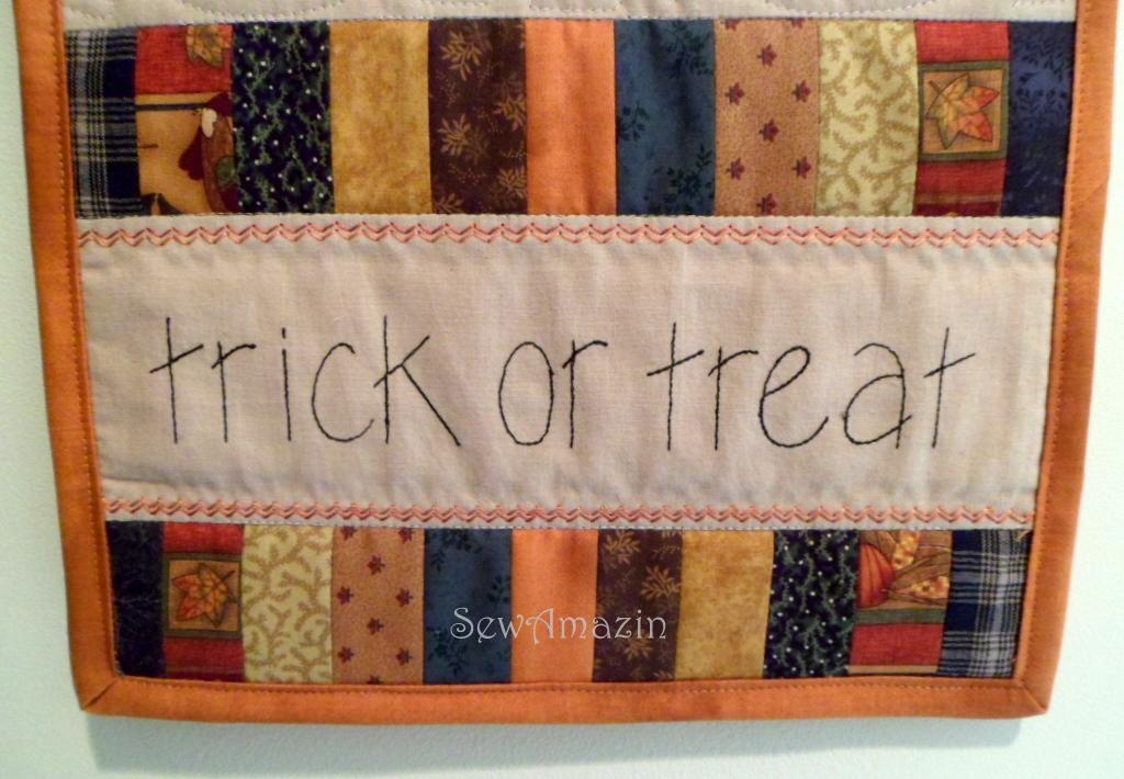 Trick or Treat Backdoor Quilt