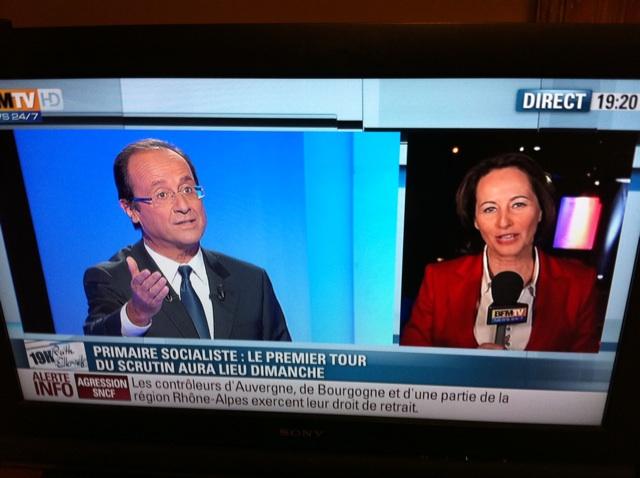 Quand #BFMTV interviewe Royal, ils diffusent des images dHollande. #PetitsComiques