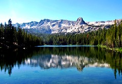 Lake George Reflections, Mammoth Lakes, California (moonjazz) Tags: nature lake reflection california mammothlakes alpine hike travel sublime fresh morning sierranevada fishing blue wow